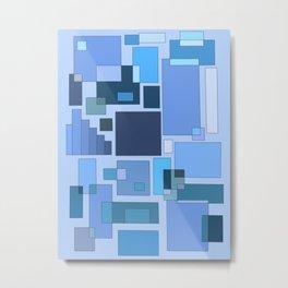 Blue Statistics Metal Print