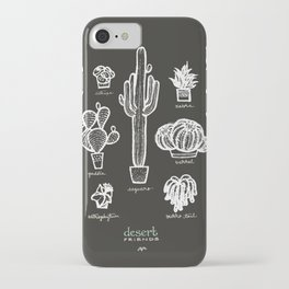 Desert Friends. Cacti and Succulents iPhone Case