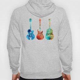 Abstract Guitars by Sharon Cummings Hoody