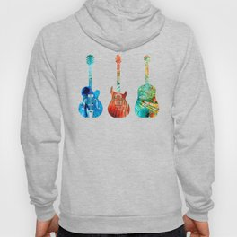 Abstract Guitars by Sharon Cummings Hoody