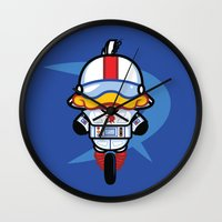 gizmo Wall Clocks featuring Hello Gizmo by Hoborobo