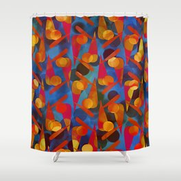 Funky Pattern Shower Curtain