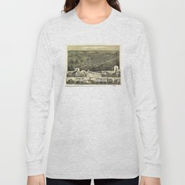 Aerial View of Shenandoah, Pennsylvania (1889) Long Sleeve T-shirt