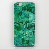 malachite iPhone & iPod Skins featuring Malachite Fusion by Kiss the Sky