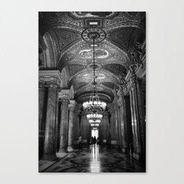 Palais Garnier in Black & White Canvas Print