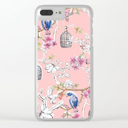 Victorian Birds garden Clear iPhone Case