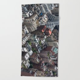 Roofs of New York. Beach Towel