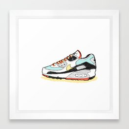 Airmax sneakers Framed Art Print