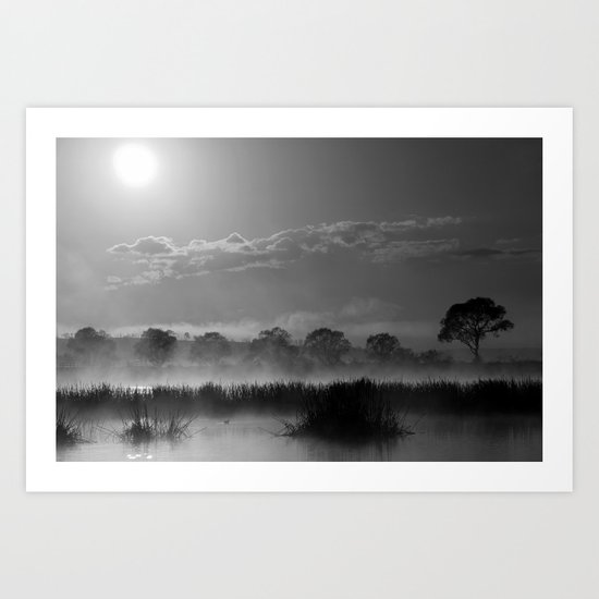 Old Autumn in the Misty Morn Art Print