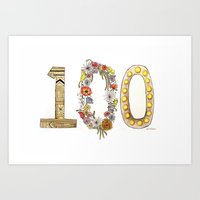 the 100 Art Prints featuring 100 by Jessie Vittoria
