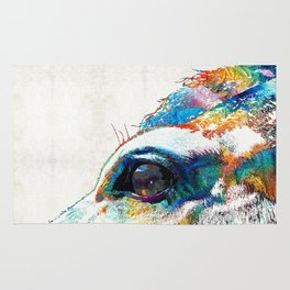 Colorful Horse Art - A Gentle Sol - Sharon Cummings Rug