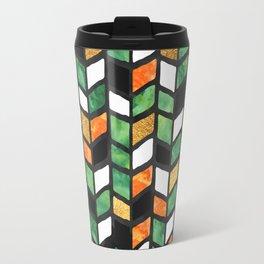 Herringbone Golden Jade Travel Mug