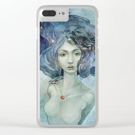 Zodiac Cancer Clear iPhone Case