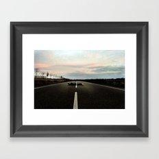 On the Road.... Framed Art Print