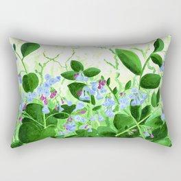 Babi's Bluebells Rectangular Pillow