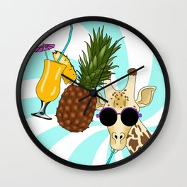Drunk Giraffe  Wall Clock