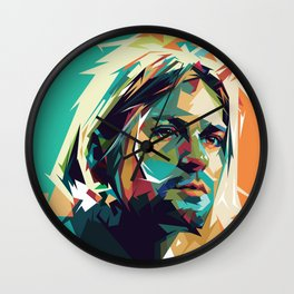 Kurt Pop Art Cobain Wall Clock