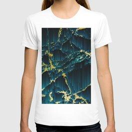 Golden pixel sorting T-shirt