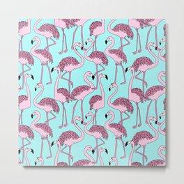 Flamingo Pattern Artwork Metal Print