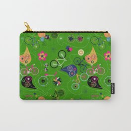 Cycledelic Green Carry-All Pouch