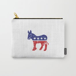 Democrat Original Donkey Distressed Carry-All Pouch