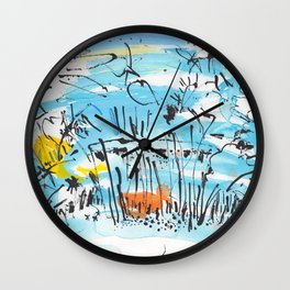 The Little Pond in the Park Wall Clock