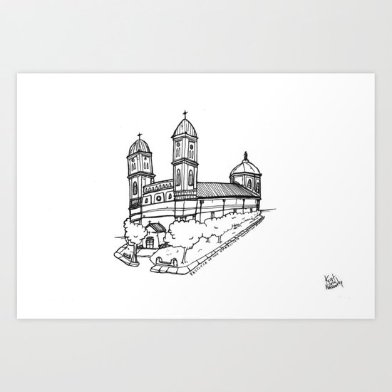 Basilica of the Immaculate Conception | Natchitoches, Louisiana Church Art Print