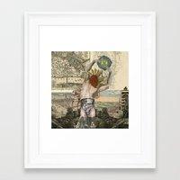 atlas Framed Art Prints featuring Atlas by DIVIDUS DESIGN STUDIO