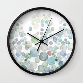 Abstract blue Sea Watercolor Wall Clock