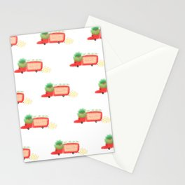 Red yeast pork truck Stationery Cards