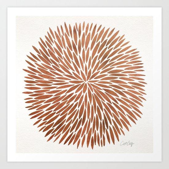 Rose Gold Burst Art Print