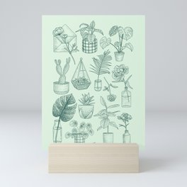 PLANTS LOVER Mini Art Print