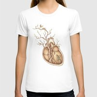 heart T-shirts featuring Tree of Life by Enkel Dika