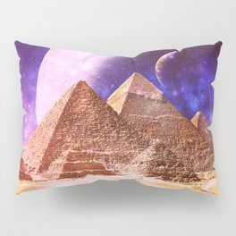 Galaxy Pyramids Pillow Sham