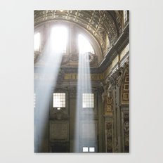 Sun rays in the Vatican, Italy Canvas Print