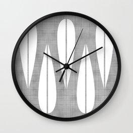 Make Mine MCM Grey Wall Clock