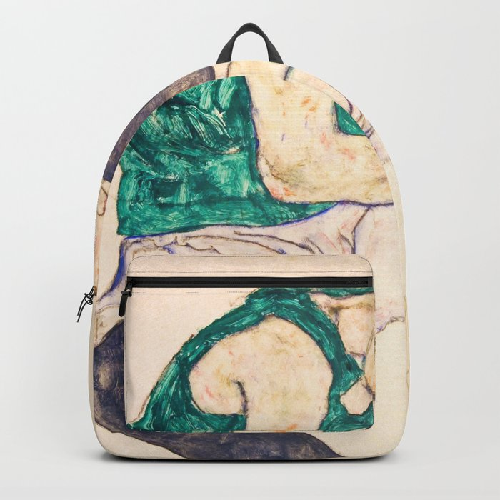 "Egon Schiele ""Seated Woman with Legs Drawn Up"" Rucksack"