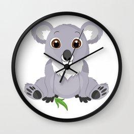 Cute Little Koala Bear Wall Clock