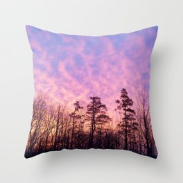 Bloomfield, NY morning Throw Pillow