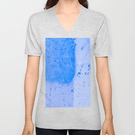Stonewall in Pale Cerulean and Cyan Unisex V-Neck