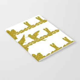 Gold Hummingbirds on Line Chatting Notebook