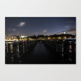 More of the Thames at Night. Canvas Print