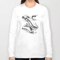 splatter Long Sleeve T-shirts featuring Black Splatter by C Designz