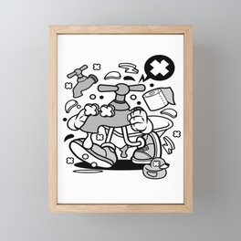 Faucetfor animated characters comics and pop culture lovers Framed Mini Art Print