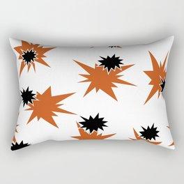 Stars (Orange & Black on White) Rectangular Pillow