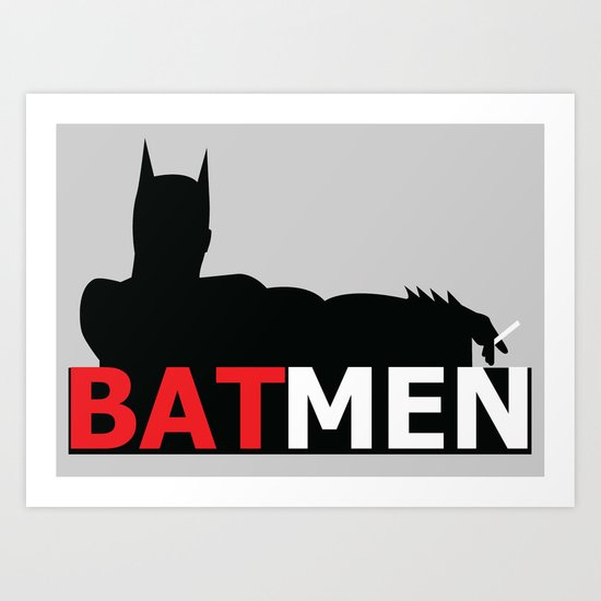 Bat Men Art Print