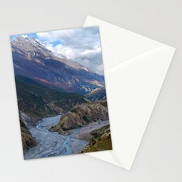 River and Clouds near Manang Stationery Cards