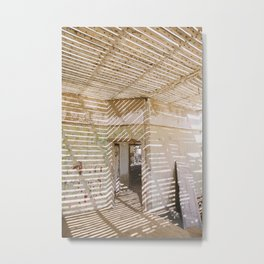 Abandoned House in Kolmanskop Ghost Town Metal Print
