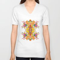 psych V-neck T-shirts featuring Free Psych and Mirrors - Antonio Feliz by Marina Molares