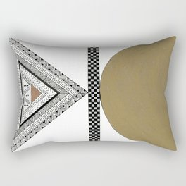 Geometric Shapes with Gold, Copper and Silver Rectangular Pillow